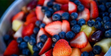 strawberry and blueberry salad