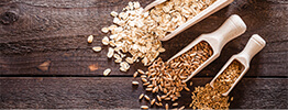 Grains in measuring spoons